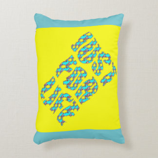 JUST FOR LIFE YELLOW BLUE OREILLIER ZZ DECORATIVE CUSHION