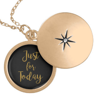 """""""Just for Today"""" AA NA recovery quote gift locket"""