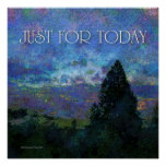 Just for Today Blue Sunrise Poster