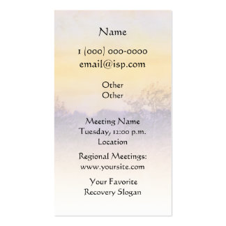 Just for Today Field Business Card