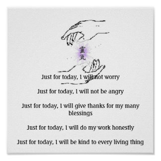 Just for today, I will not worryJust fo... Poster