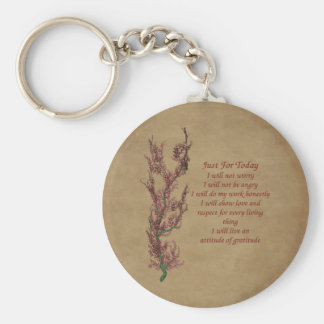 Just For Today Inspirational Quote Keychain