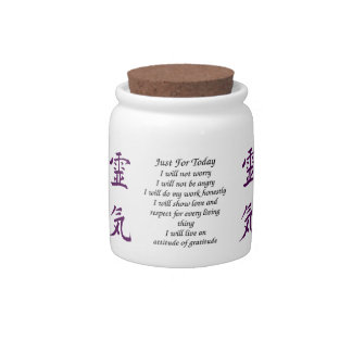 Just For Today Principles Of Reiki Candy Jar