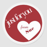 Just for You Custom Gift Tag Stickers