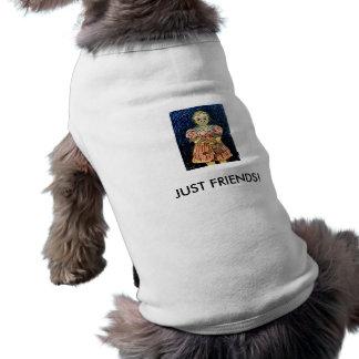 JUST FRIENDS! SLEEVELESS DOG SHIRT