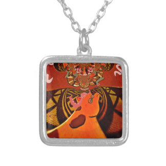 Just Funny Giraffe image design Square Pendant Necklace