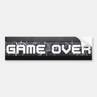 Just Game Over Bumper Sticker