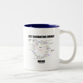 Just Generating Energy Inside (Krebs Cycle) Two-Tone Mug
