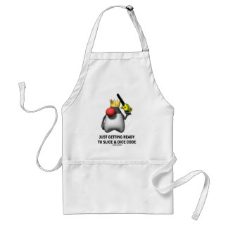Just Getting Ready To Slice & Dice Code (Duke) Standard Apron