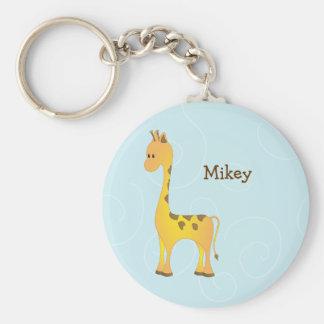 Just Giraffe Basic Round Button Key Ring