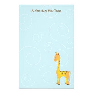 Just Giraffe Stationery