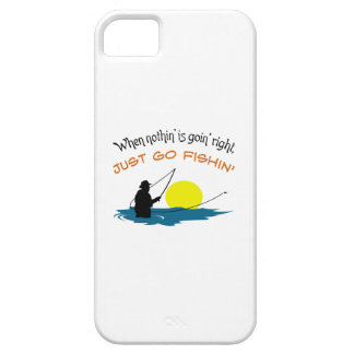 JUST GO FISHIN BARELY THERE iPhone 5 CASE