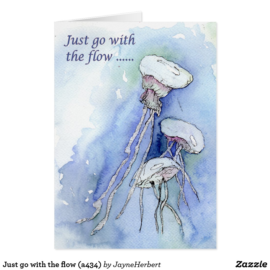Just go with the flow (a434) card