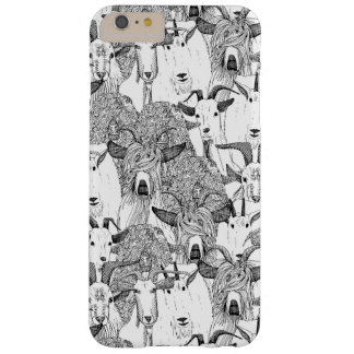 just goats black white barely there iPhone 6 plus case