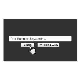 Just Google My Keywords Dark Gray Business Card