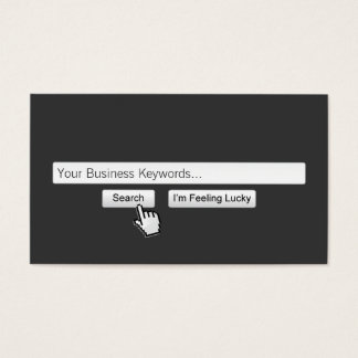 Just Google My Keywords Dark Gray Business Card