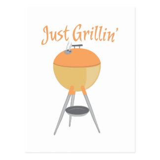 Just Grillin Postcard