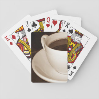 Just Half a Cup coffee standard playing cards