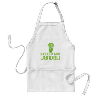 just handle the jandal! KIWI New Zealand funny say Aprons