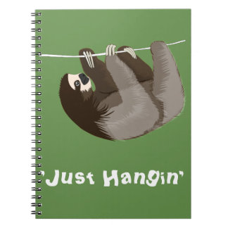 Just Hangin Sloth Notebook