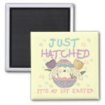 Just Hatched 1st Easter Tshirts and Gifts Magnets
