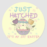 Just Hatched 1st Easter Tshirts and Gifts Sticker
