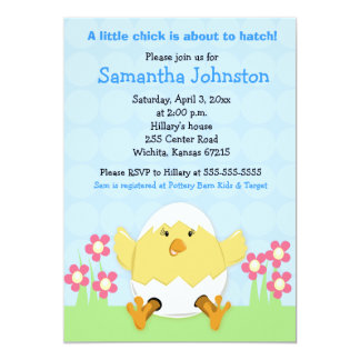 "Just Hatched Easter Baby Shower Invitation 5"" X 7"" Invitation Card"