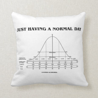 Just Having A Normal Day (Bell Curve Humor) Cushion