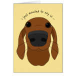 """Just hi"" Cute Dog Nose greeting cards"