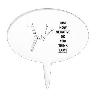 Just How Negative Do You Think I Am? (Beta-Neg.) Cake Topper