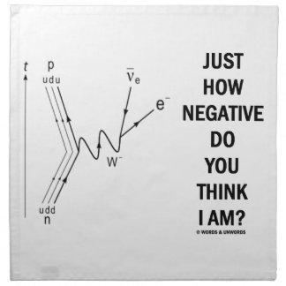 Just How Negative Do You Think I Am? (Beta-Neg.) Printed Napkins