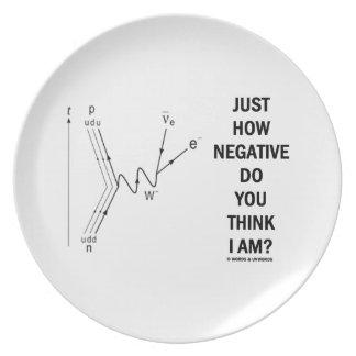 Just How Negative Do You Think I Am? (Beta-Neg.) Party Plates