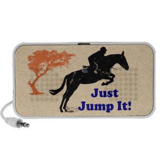 Just Jump It! Horse Notebook Speakers