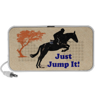 Just Jump It! Horse Notebook Speakers