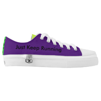 JUST KEEP RUNNING LOW TOP PRINTED SHOES