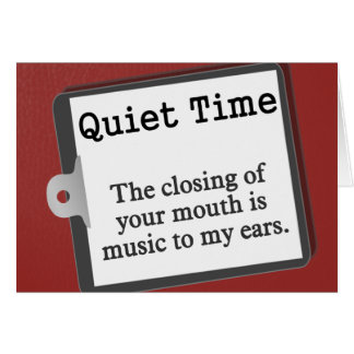 Just keep your mouth closed note card