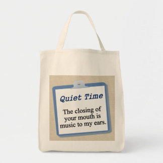 Just keep your mouth closed grocery tote bag
