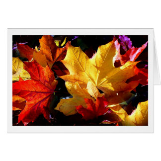JUST LEAVES GREETING CARD