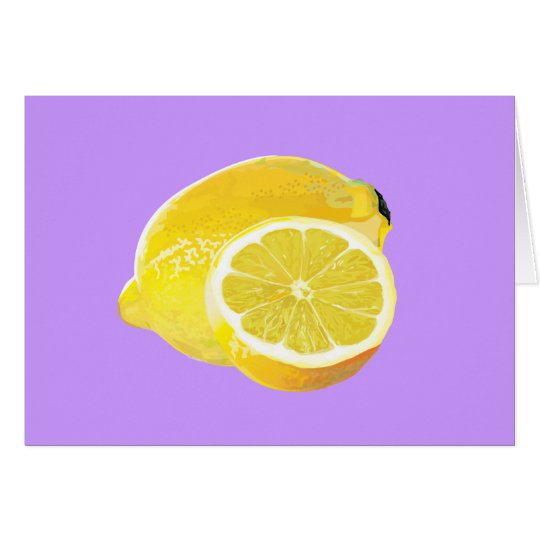 Just Lemons Card