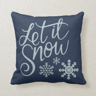 Just Let It Christmas Throw Pillow