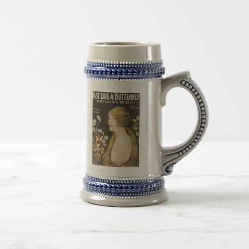 Just Like A Butterfly Stein Coffee Mug