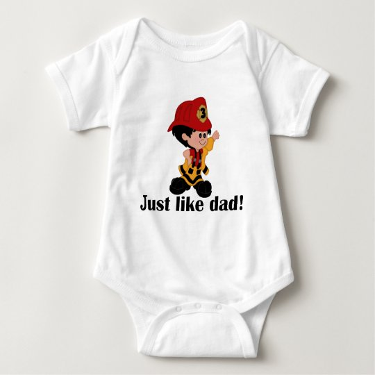 Just like Fireman Dad Baby Bodysuit