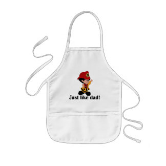 Just like Fireman Dad Kids Apron