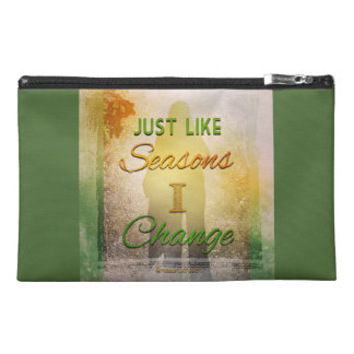 Just like seasons l change travel accessory bag