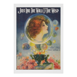 Just Like the Will O'The Wisp Print
