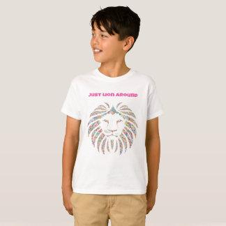 Just Lion Around School Mascot T-Shirt