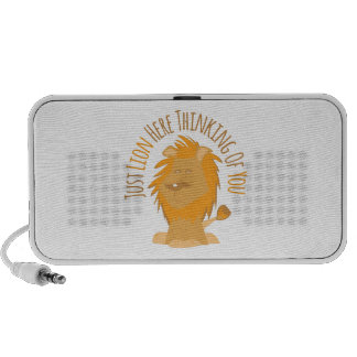 Just Lion Here Thinking Of You Notebook Speaker