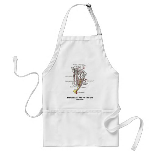 Just Look At Me In The Eye (Anatomical Humor) Aprons