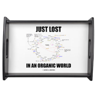 Just Lost In An Organic World Krebs Cycle Humor Serving Tray