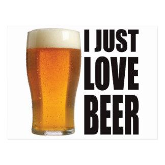 Just Love Beer Postcard
